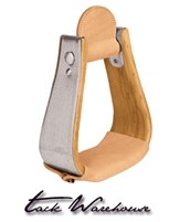 Wooden Stirrups with Leather Treads, Overshoe Visalia