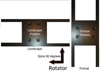 ASM-Rotator Adapter Plate Spins Portrait/Landscape