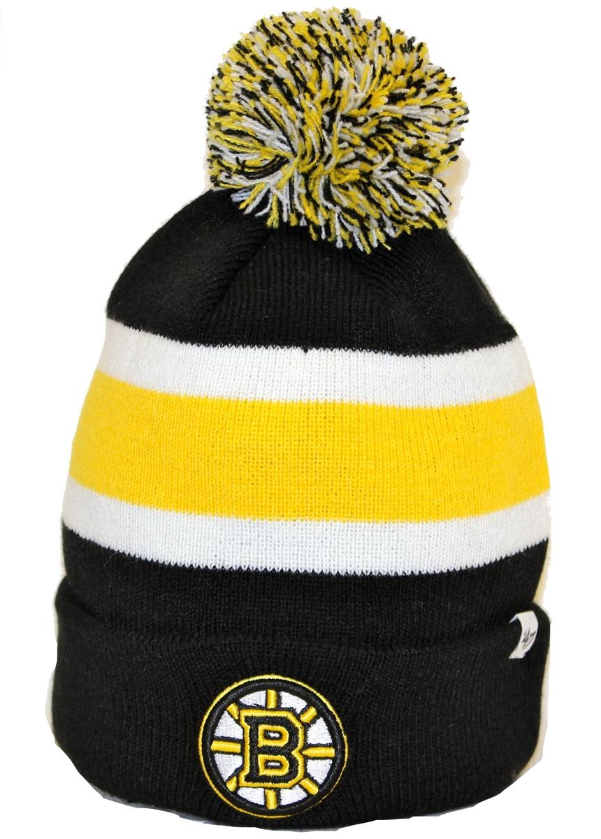 e72764564b1 The 47 Brand Breakaway Boston Bruins Black Yellow White Beanie
