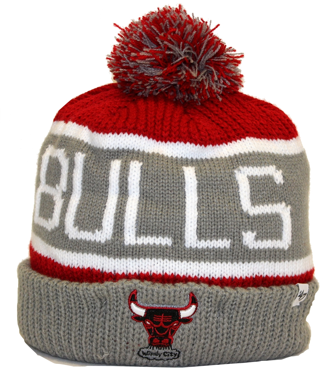 988a7e3a The 47 Brand Calgary Chicago Bulls Gray Red White Beanie