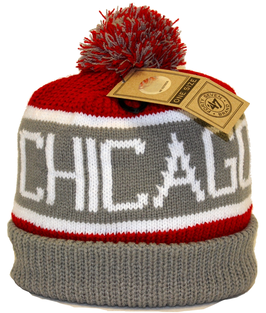 7b458ccb5f3 The 47 Brand Calgary Chicago Bulls Gray Red White Beanie