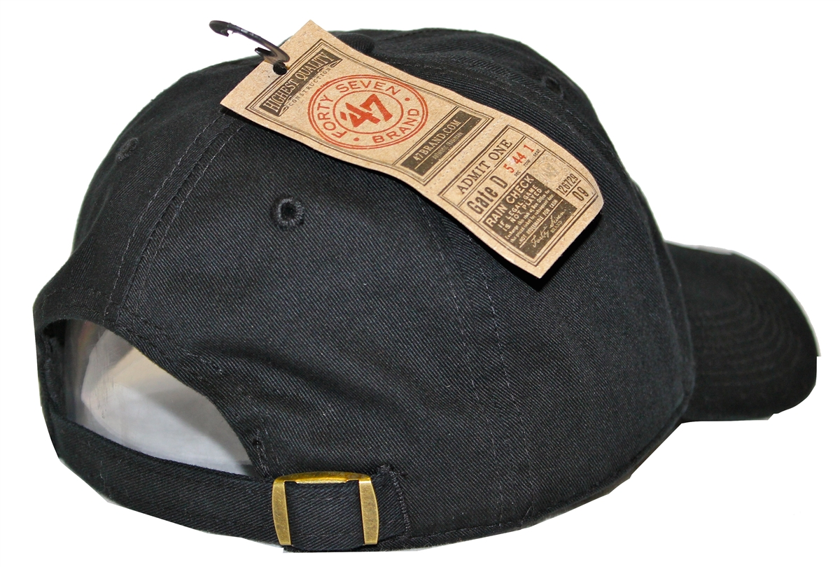 The 47 Brand Clean Up New England Patriots Black Strapback 76ba2893a81
