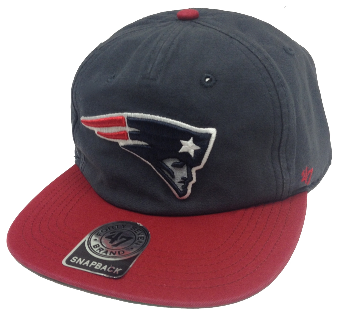 The 47 Brand Marvin New England Patriots Navy & Red Snapback