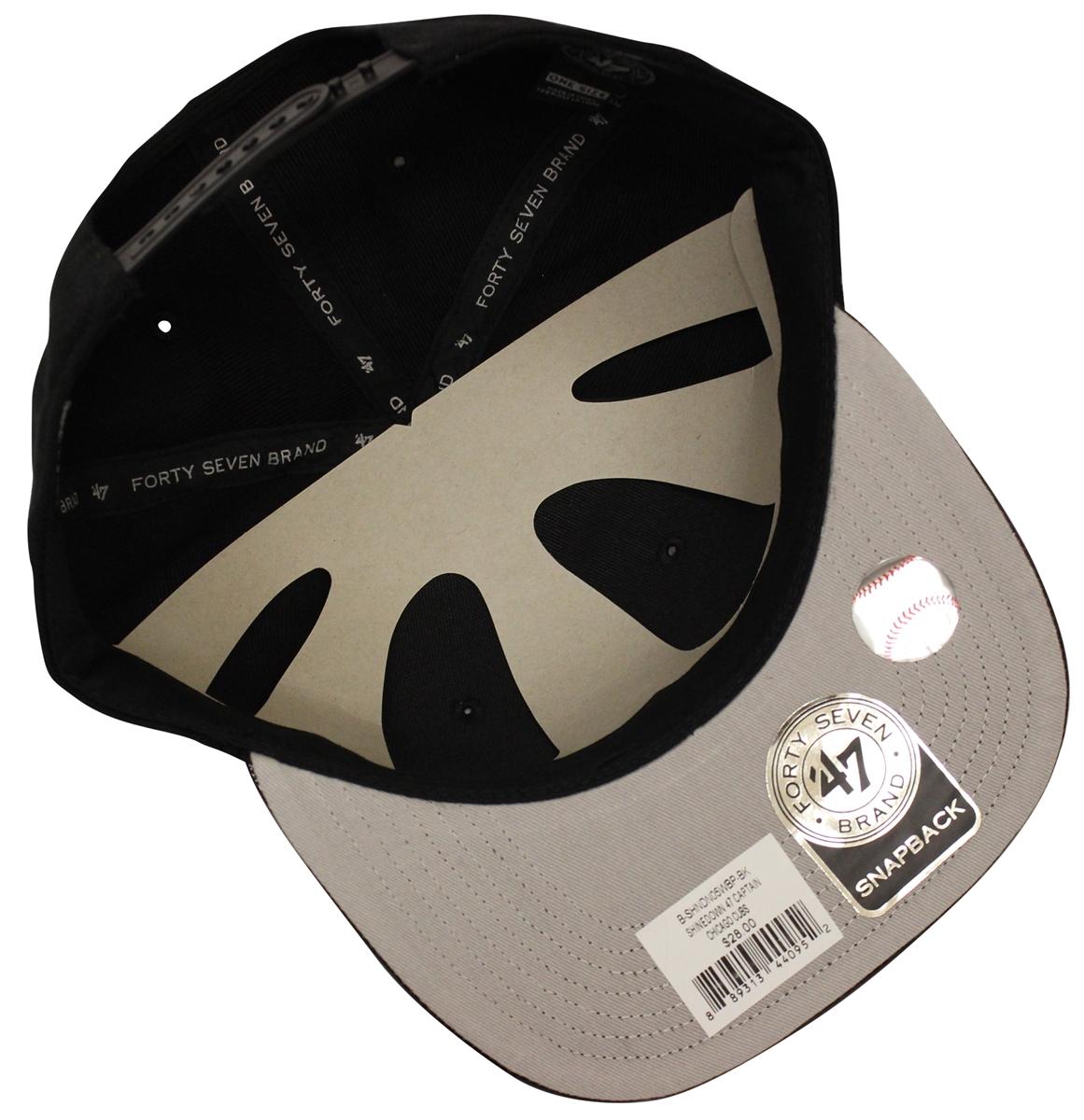 0e740370f80 47 Brand Shinedown New York Yankees Black Snapback
