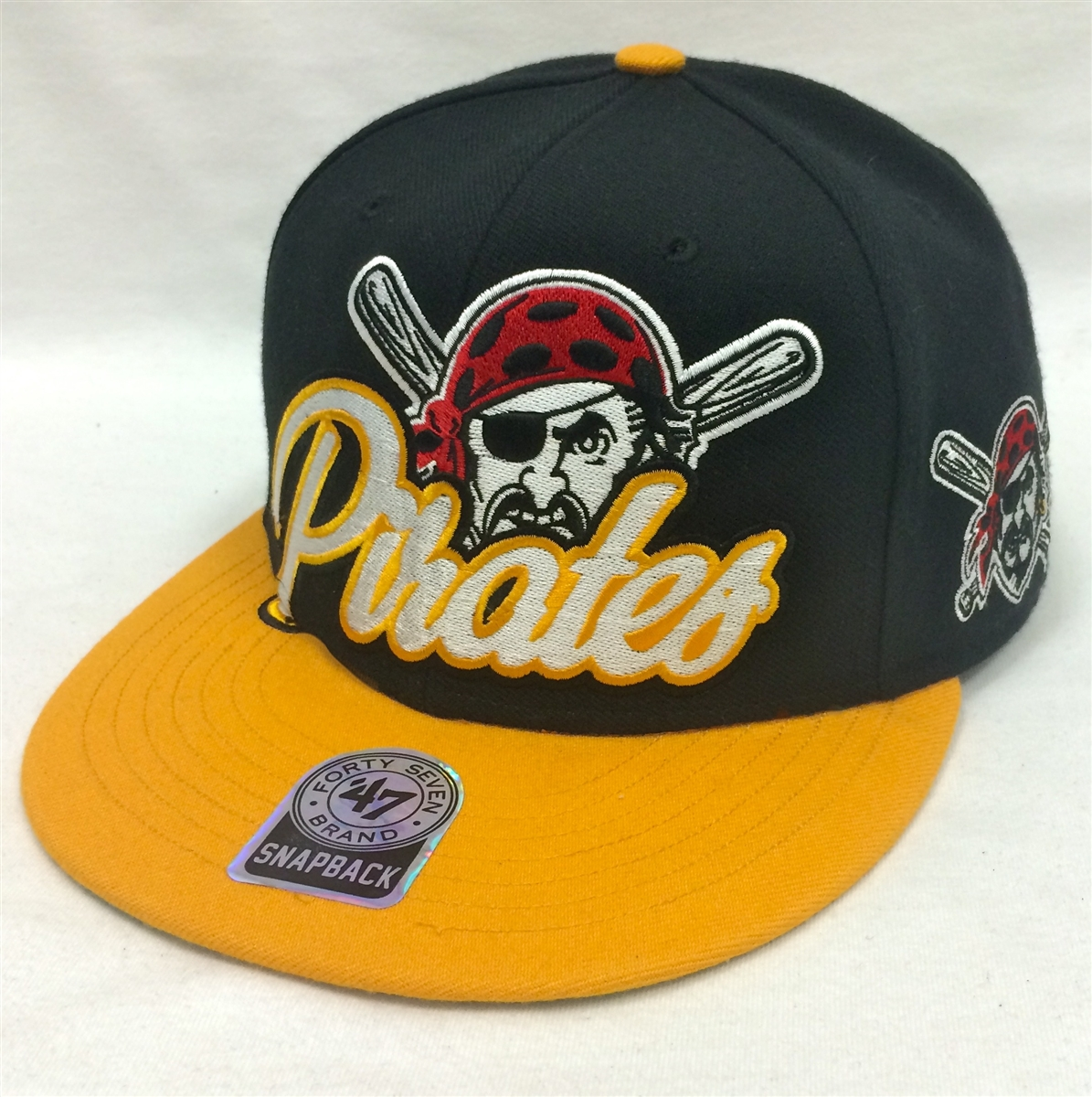 47 Brand Slam Dunk Pittsburgh Pirates Black   Yellow Snapback d2ffa6eee98
