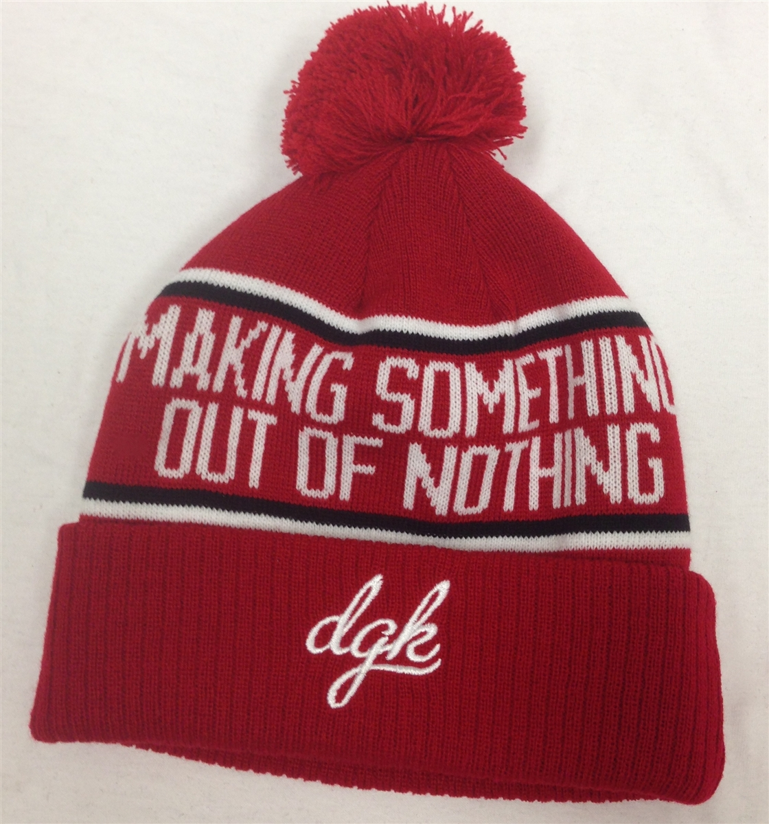 DGK Make Something Red Pom Beanie Dirty Ghetto Kids dd7009bba