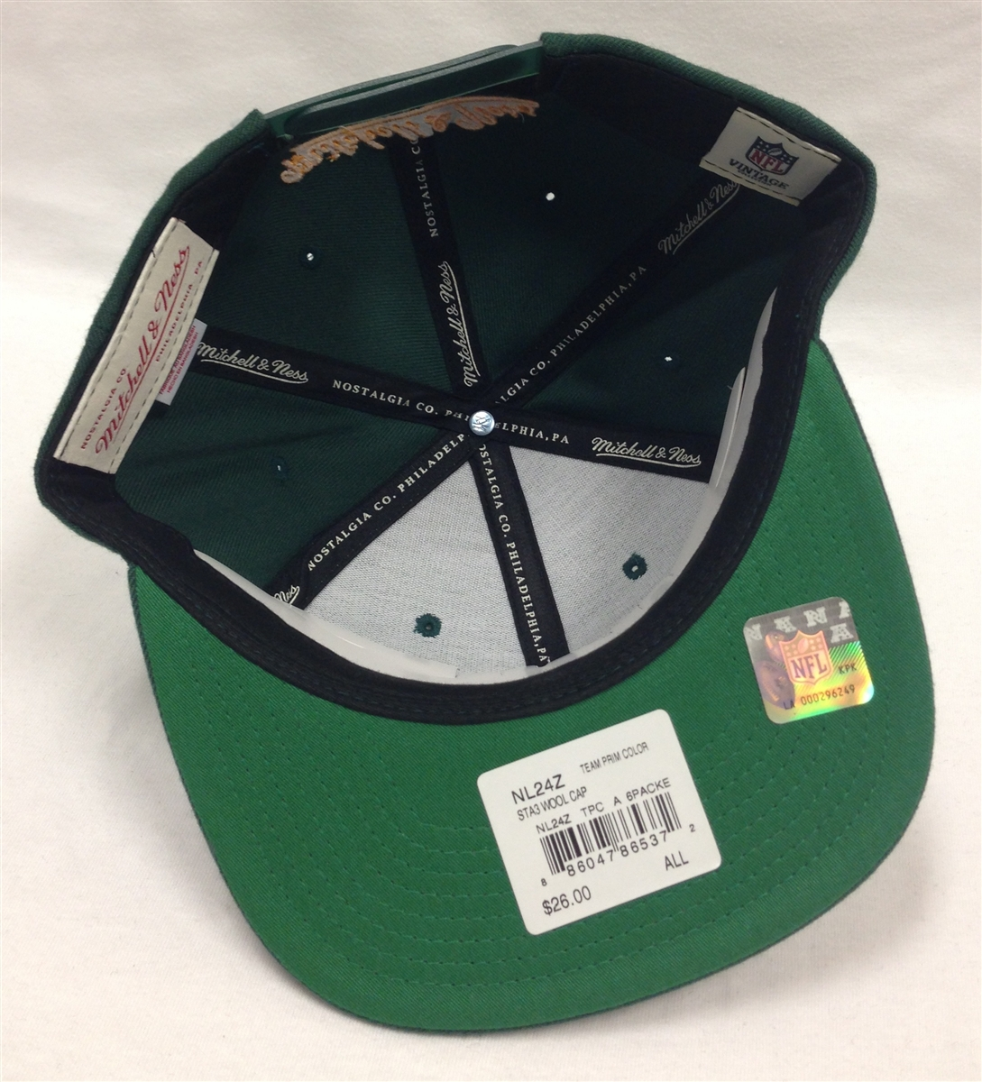 the latest 7a6e9 ef0a8 Mitchell & Ness Blocker Green Bay Packers Green Snapback