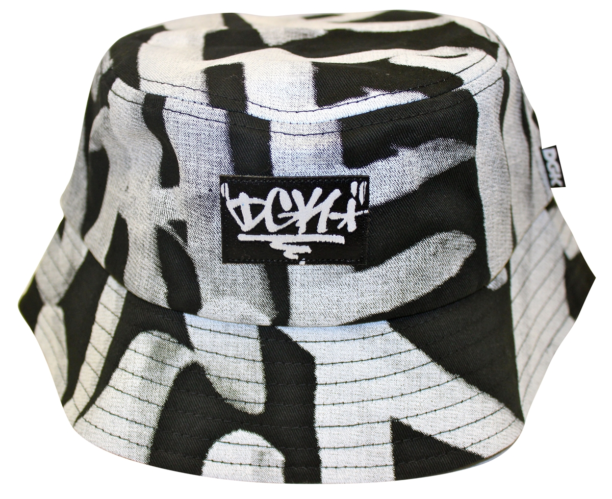 DGK Dirty Ghetto Kids Getting Up Black White Bucket Hat c430521f7ad