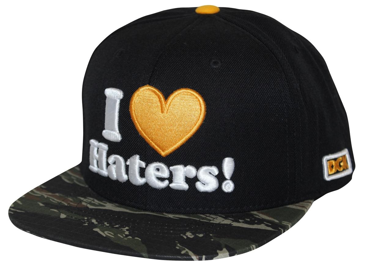 4ded45468 DGK Dirty Ghetto Kids I Love Haters Black Camo Snapback