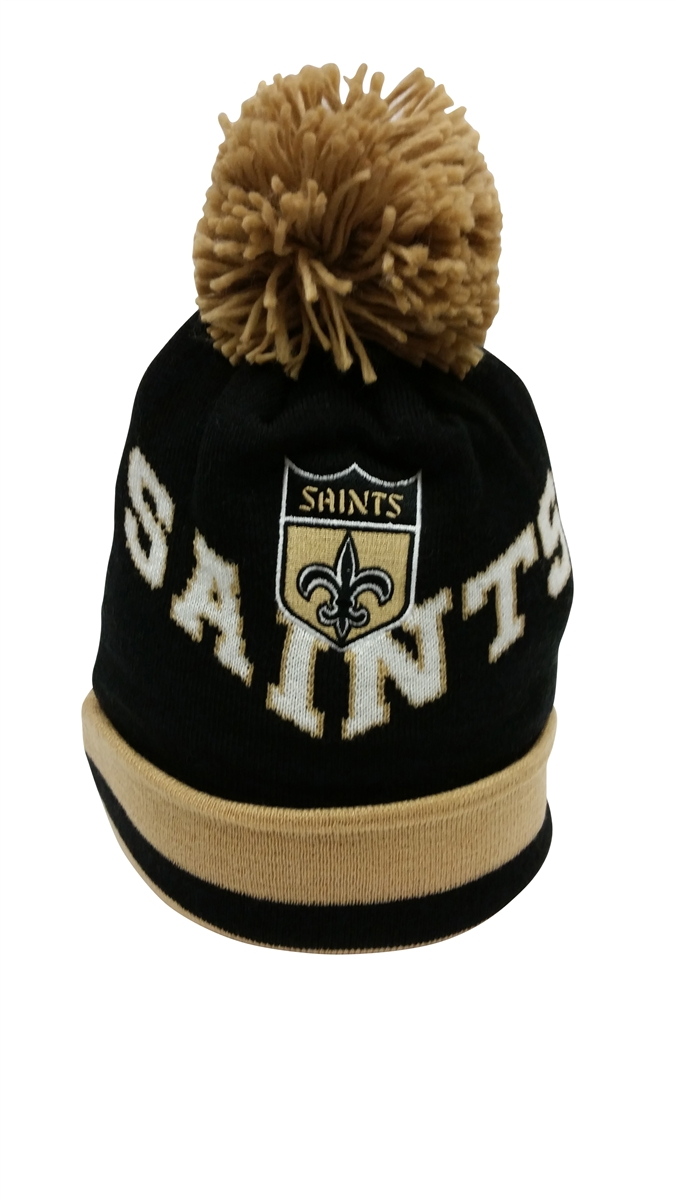 Mitchell   Ness Chunky Knit New Orleans Saints Pom 41653ac8a8d