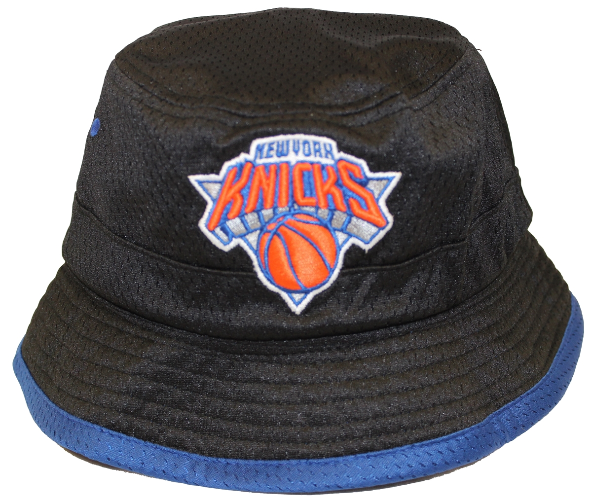 d49498486ca Mitchell   Ness Then And Now New York Knicks Bucket Hat