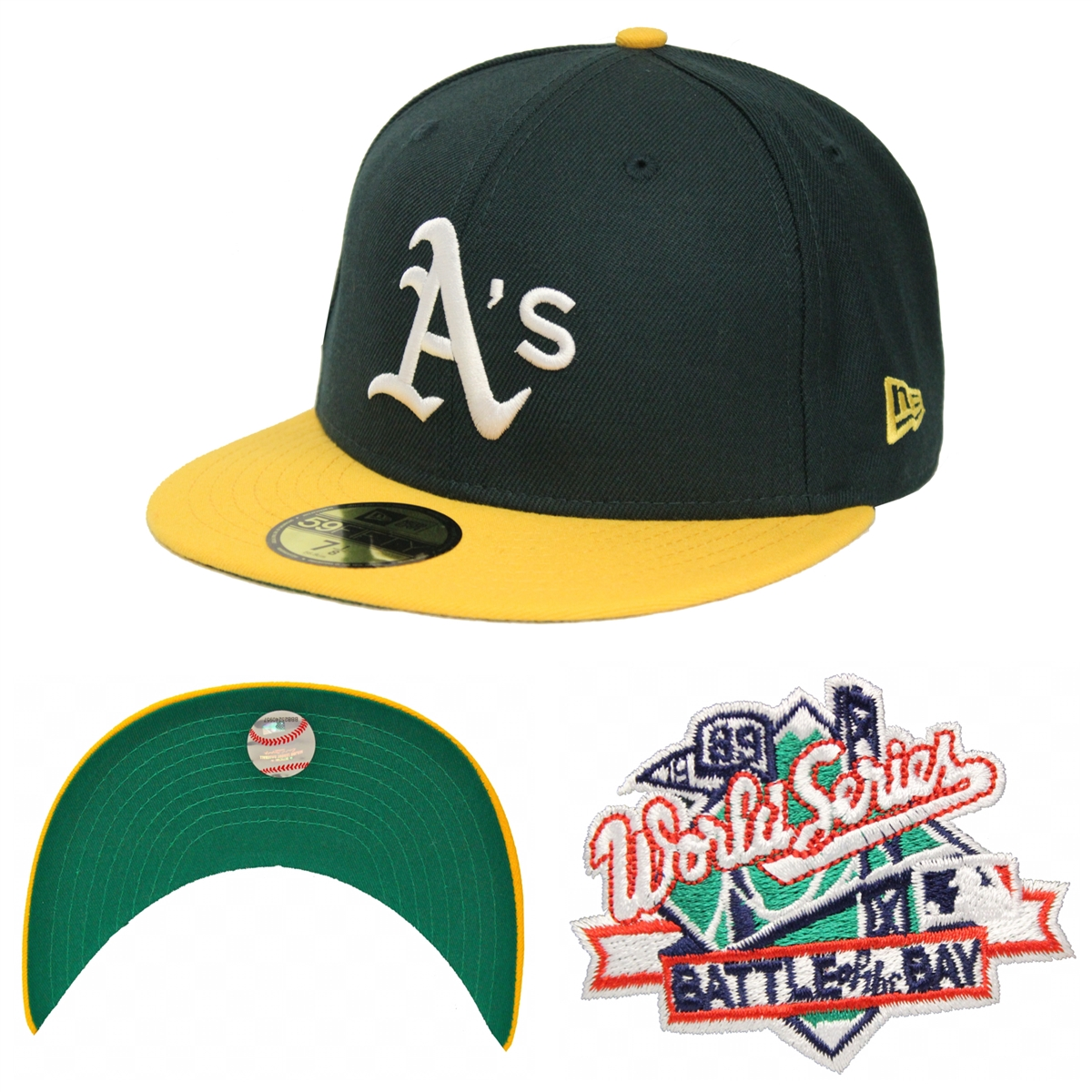 New Era 59Fifty 1989 World Series Battle Of The Bay Oakland ... b21cffbc6b3