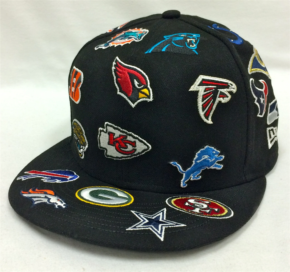 ... top quality new era 59fifty all over nfl black fitted cap 40a74 2a890 8461f94fbf7