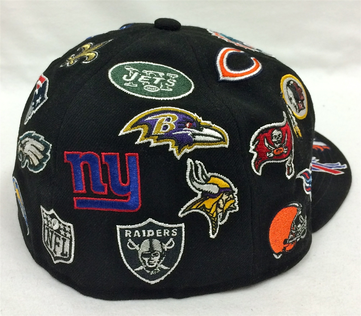 New Era 59Fifty All-Over NFL Black Fitted Cap fce0c8c88f3