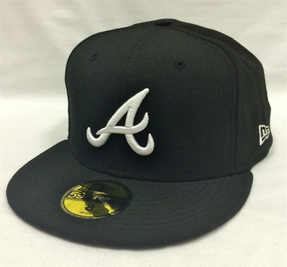 94c5b1d091418 New Era 59Fifty MLB Basic Atlanta Braves Black Fitted Cap