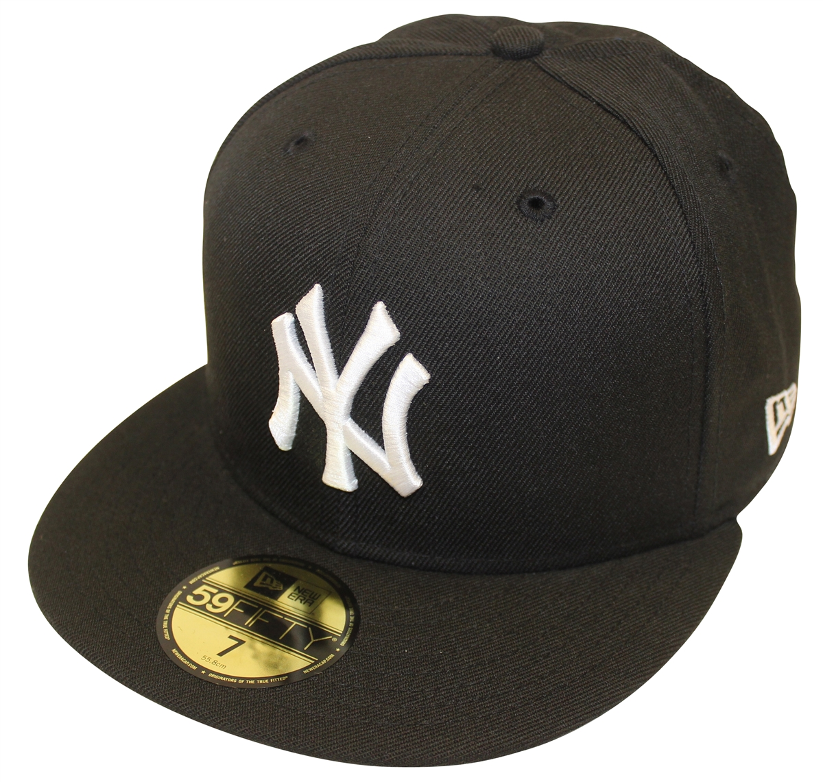 c6a445d44d5 New Era 59Fifty MLB Basic Black White New York Yankees Fitted Cap