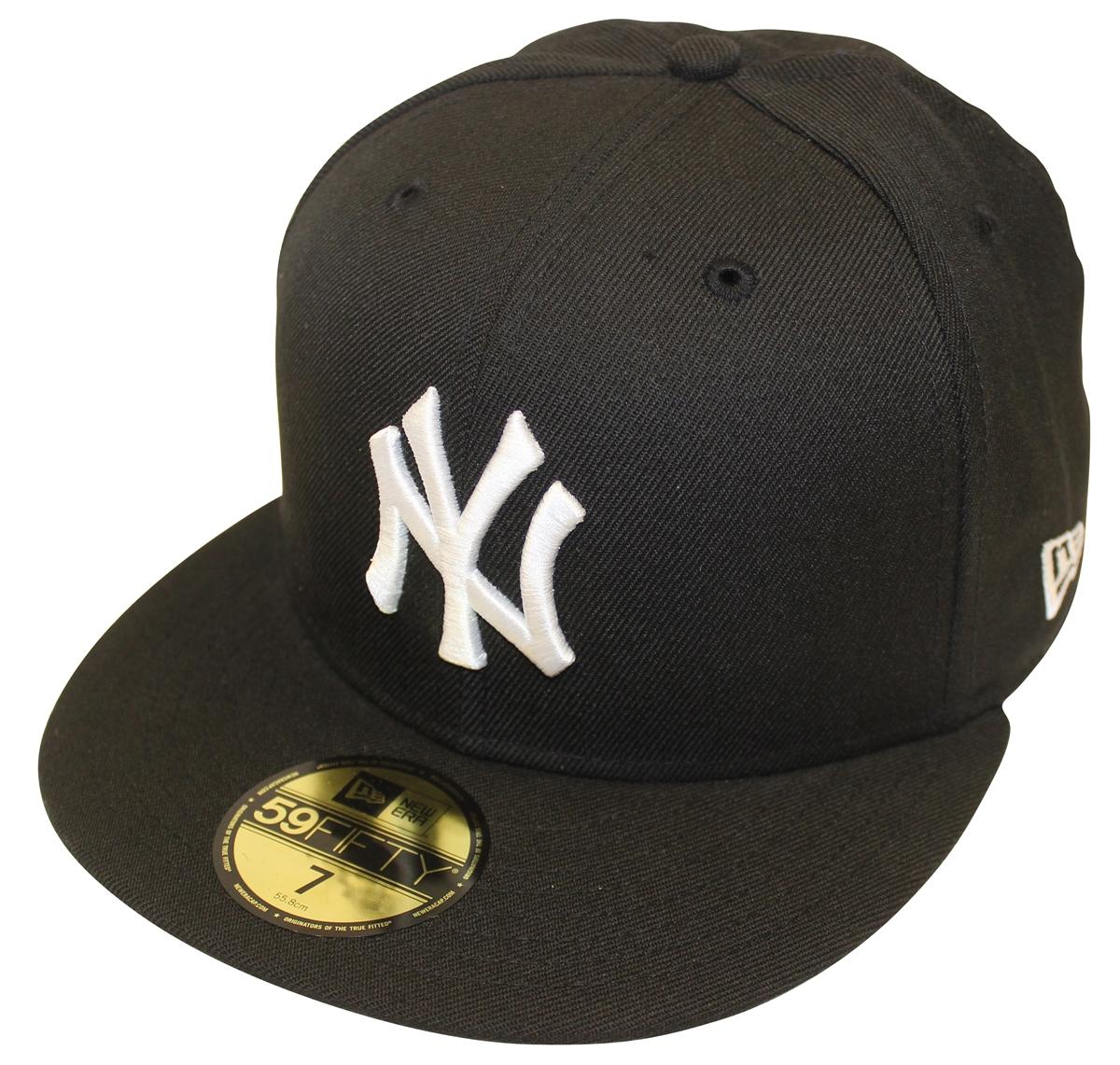 New Era 59Fifty MLB Basic Black White New York Yankees Fitted Cap 66851c6be8e
