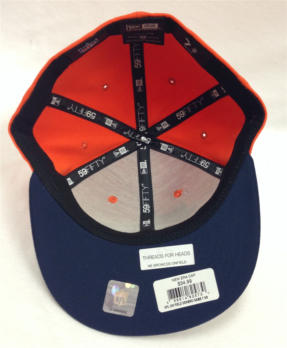 5bfeb97e833 New Era 59Fifty Denver Broncos Onfield Orange   Navy Fitted Cap