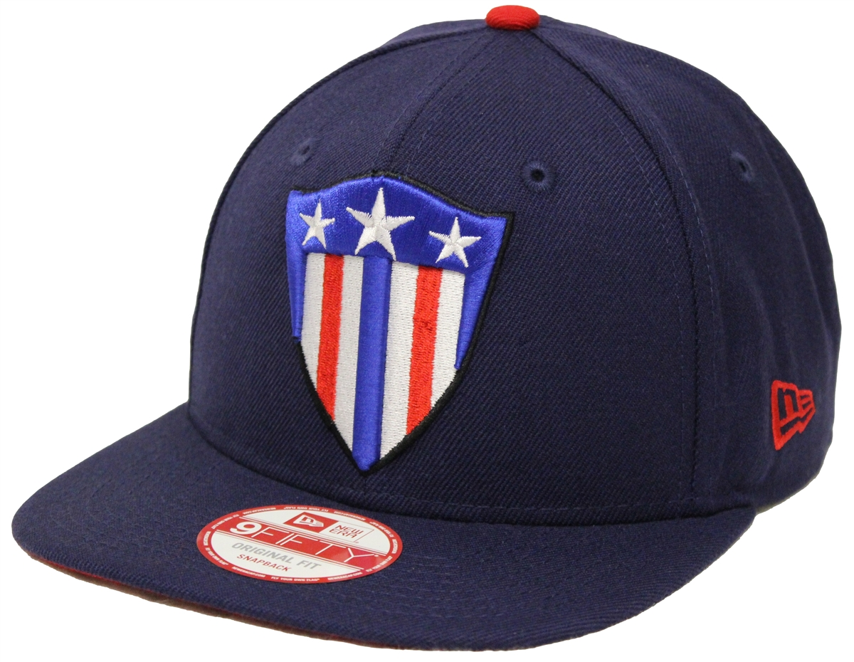 0a1224ae872 New Era 9Fifty Captain America Shield Navy Snapback T4H Custom