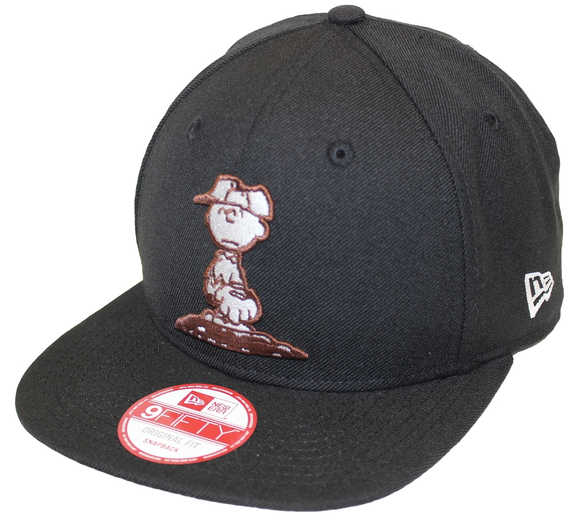 f6f33c00 New Era 9Fifty Peanuts Charlie Brown Pitcher Black Snapback T4H EXCLUSIVE