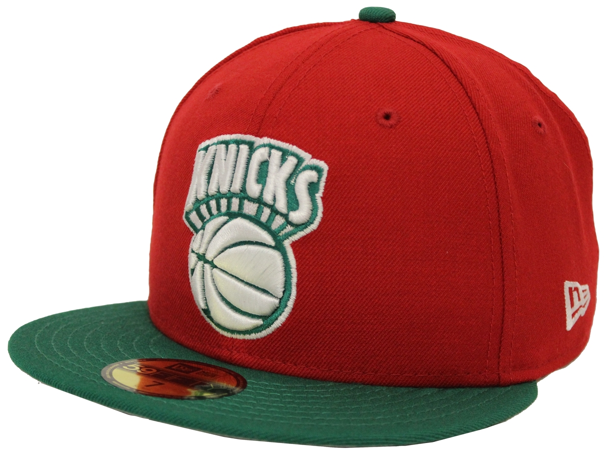 16f239f6bed New Era 59Fifty New York Knicks Red Green Fitted Christmas Cap ...