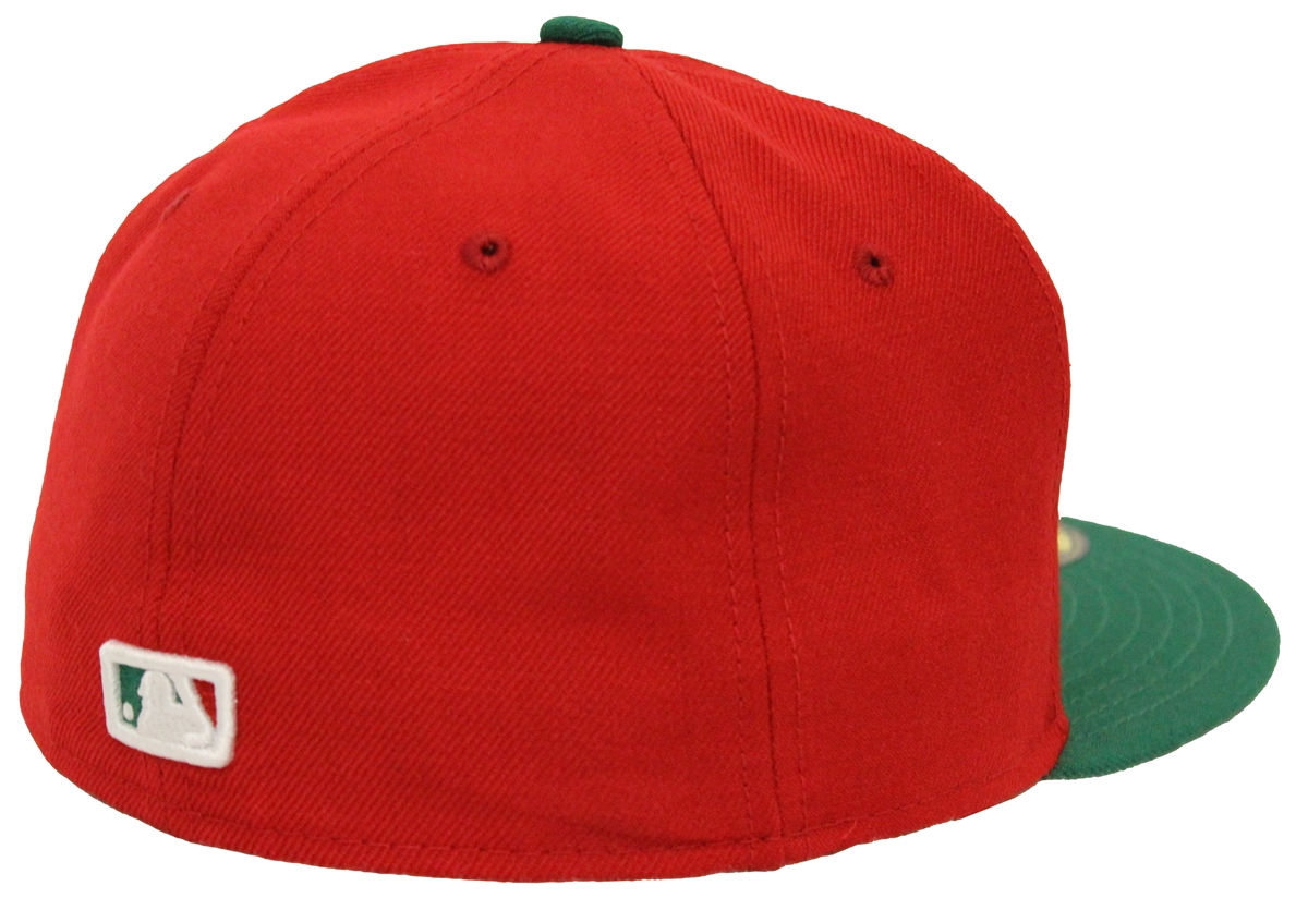 New Era 59Fifty New York Yankees Red Green Fitted Christmas Cap T4H Custom c254d91267c