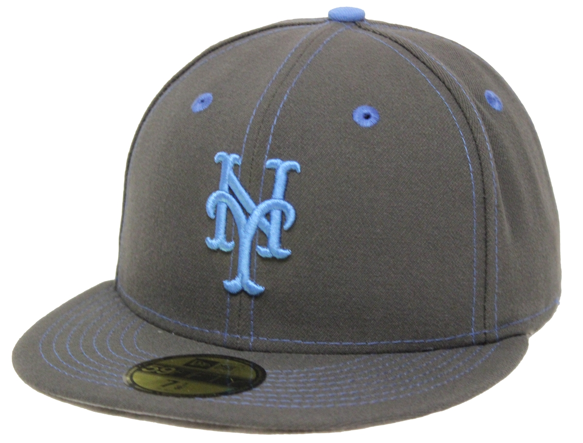 f05962065e7b5 New Era 59Fifty Fathers Day New York Mets Charcoal Blue Fitted Cap