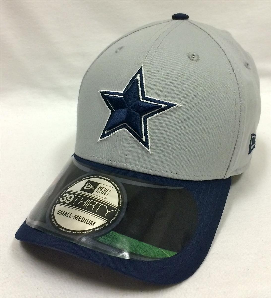 New Era 39Thirty NFL On-Field Dallas Cowboys Gray   Navy Flexfit a69061034