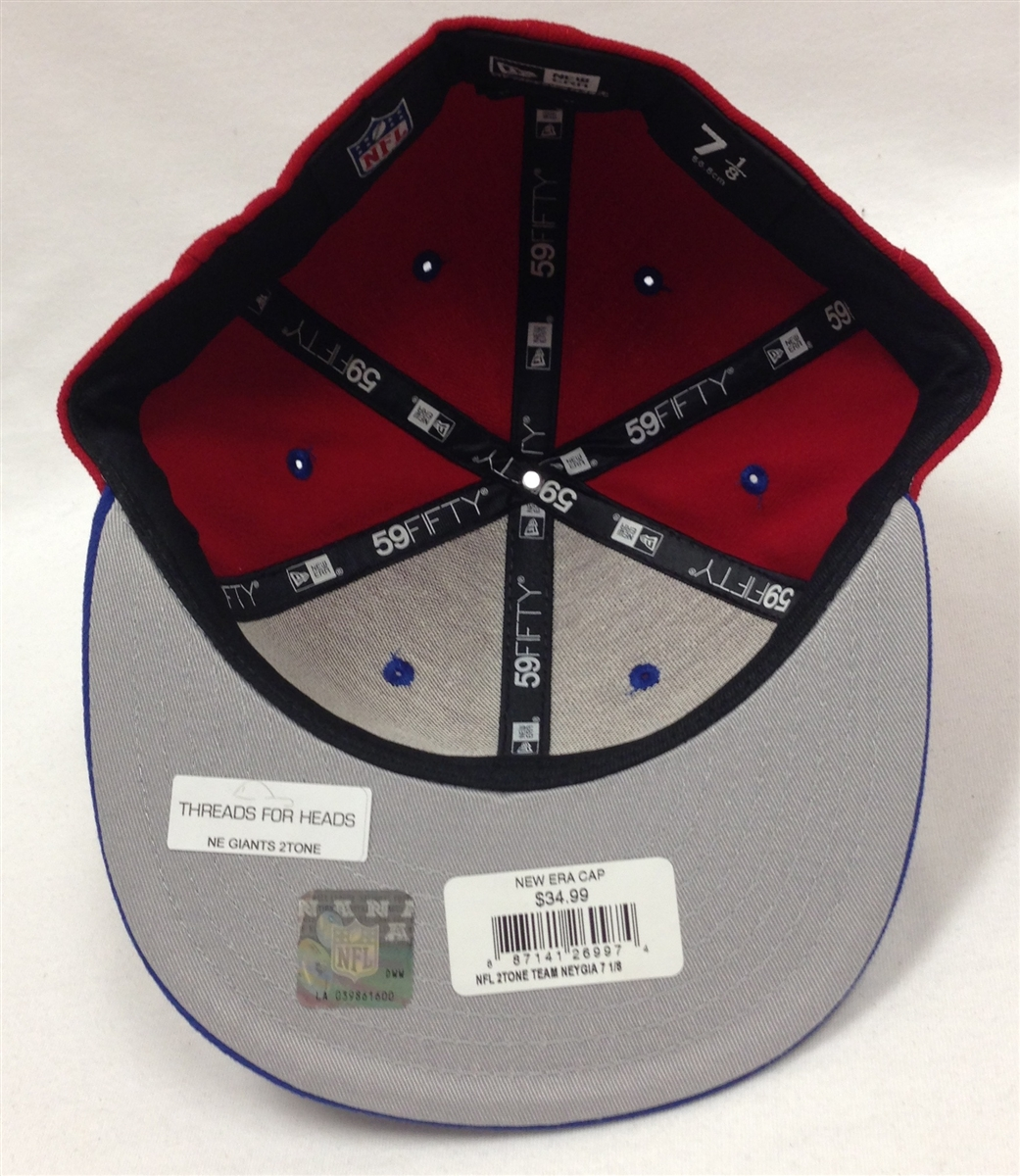 New Era 59Fifty 2Tone New York Giants Red   Blue Fitted Cap 12707d89b