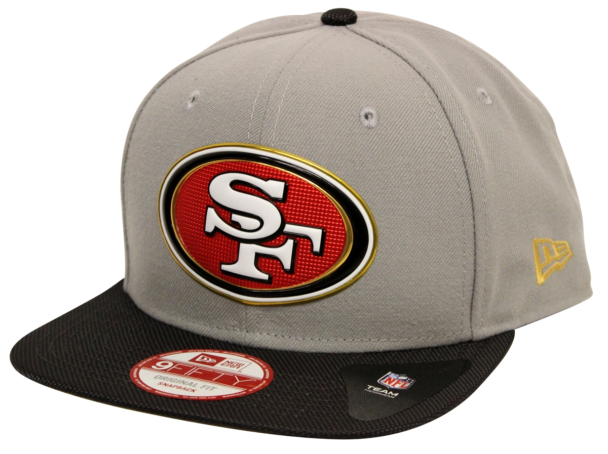 de799cf3 New Era 9Fifty Gold Coll San Francisco 49ers Gray Black Snapback