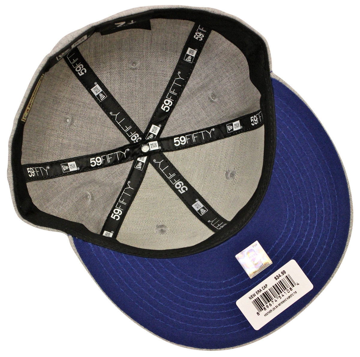 ... Black  best quality 46137 40593 New Era 59Fifty Heather Gray Blue New  York Knicks Fitted Cap ... a104d4fcfc60