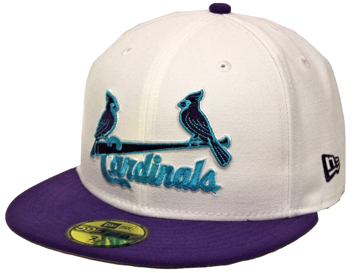 0e252a21f2823 New Era 59Fifty AJ Charlotte Hornets St Louis Cardinals Fitted Cap ...