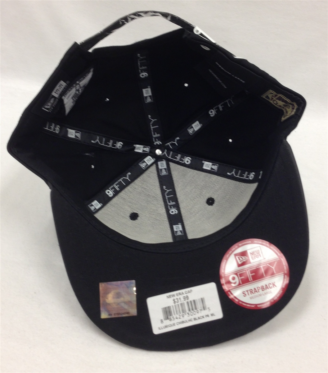 New Era 9Fifty Illumique Chicago Bulls Black Strapback 631a0d1493a