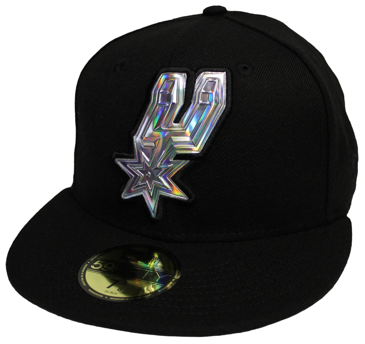 d75bb5babb0 NEW ERA 59Fifty San Antonio Spurs Team Iridescent Logo All Blue ...