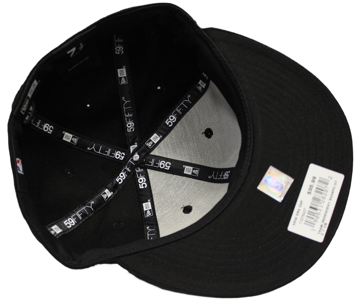 a9f9b5755d6d9 NEW ERA 59Fifty San Antonio Spurs Team Iridescent Logo All Blue Fitted Hat  Cap Navy