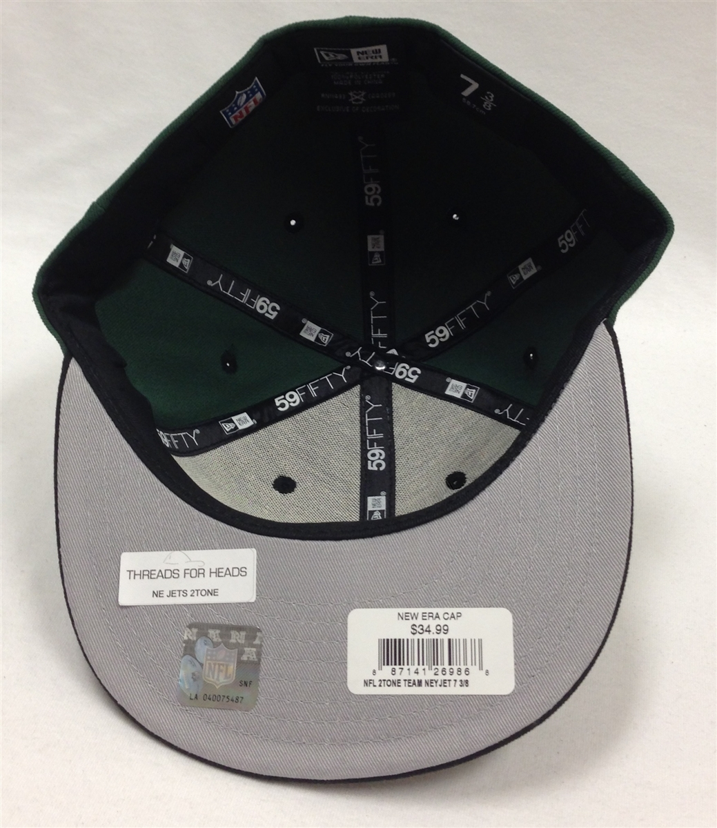 4bec9ca20f3 New Era 59Fifty 2Tone New York Jets Green   Black Fitted Cap