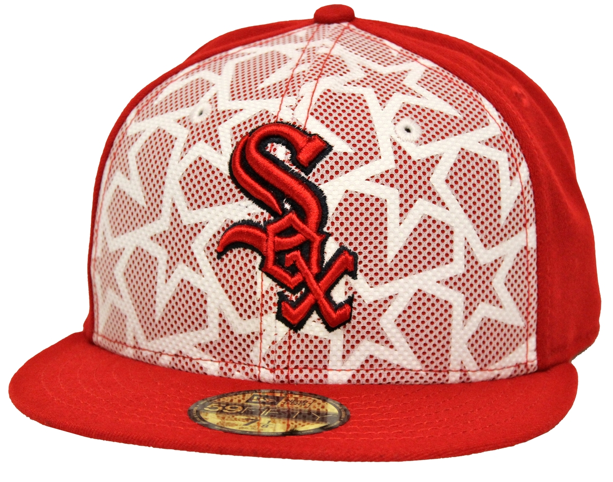 New Era 59Fifty July 4th Chicago White Sox Red Fitted Cap e2fa76ef5b8