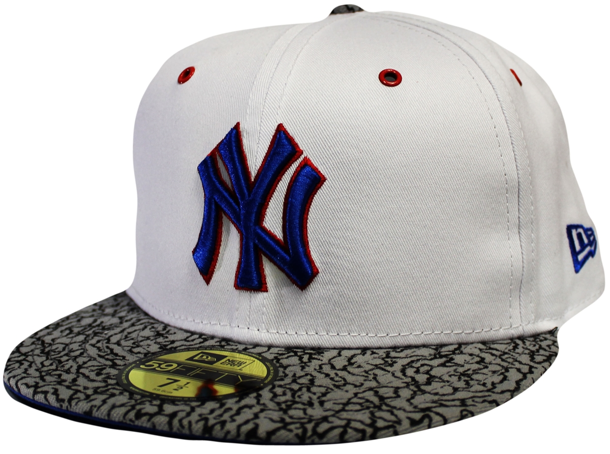 ca54acea4d5 New Era 59Fifty Kicks Hook New York Yankees White And Gray Fitted ...