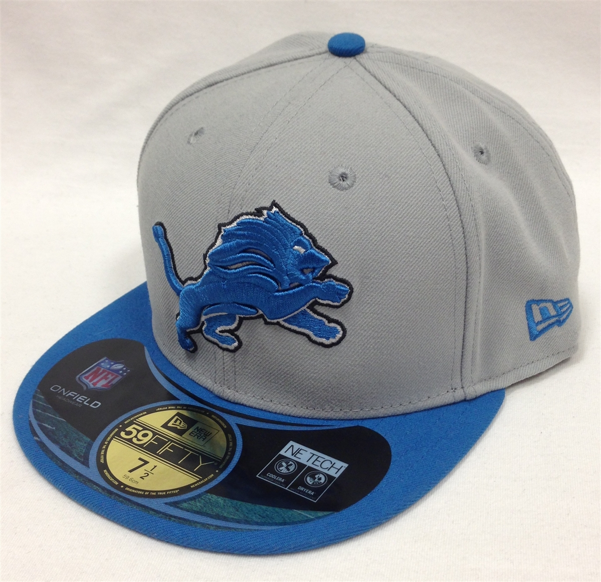 quality design 6b001 18c4b ... coupon code for new era 59fifty detroit lions onfield gray blue fitted  cap e220f 59b7f