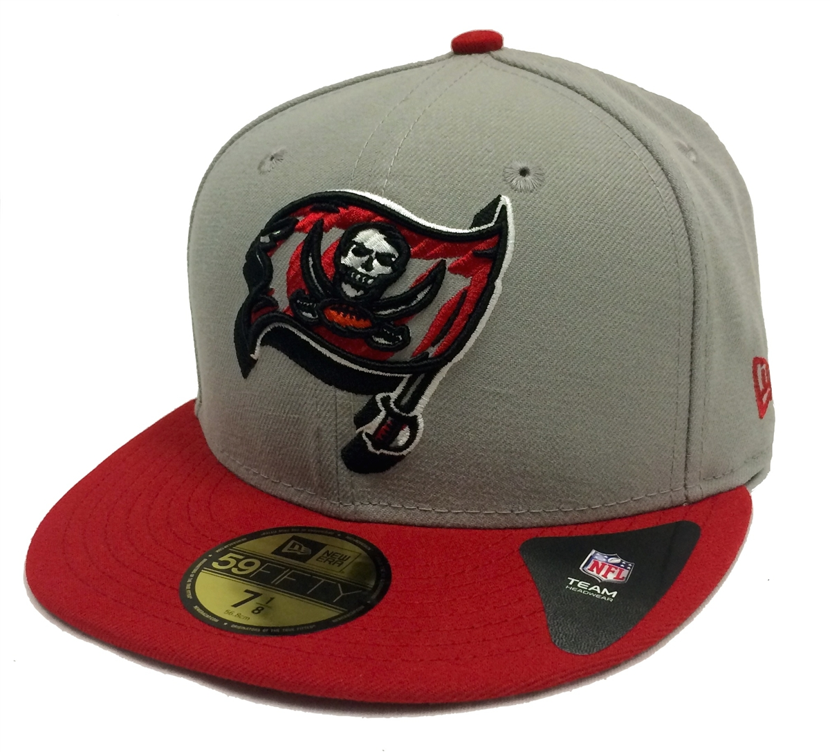 2335a550 New Era 59Fifty Neon Logo Pop Tampa Bay Buccaneers Gray & Red Fitted Cap