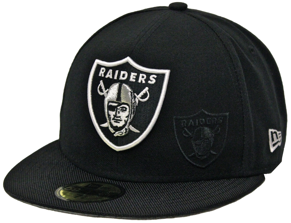 7f5bb89008e New Era 59Fifty NFL16 On Field Oakland Raiders Black Fitted Cap
