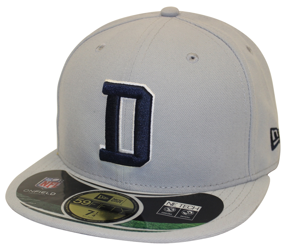 New Era 59Fifty NFL On Field Dallas Cowboys Gray Fitted Cap 89462a29c66