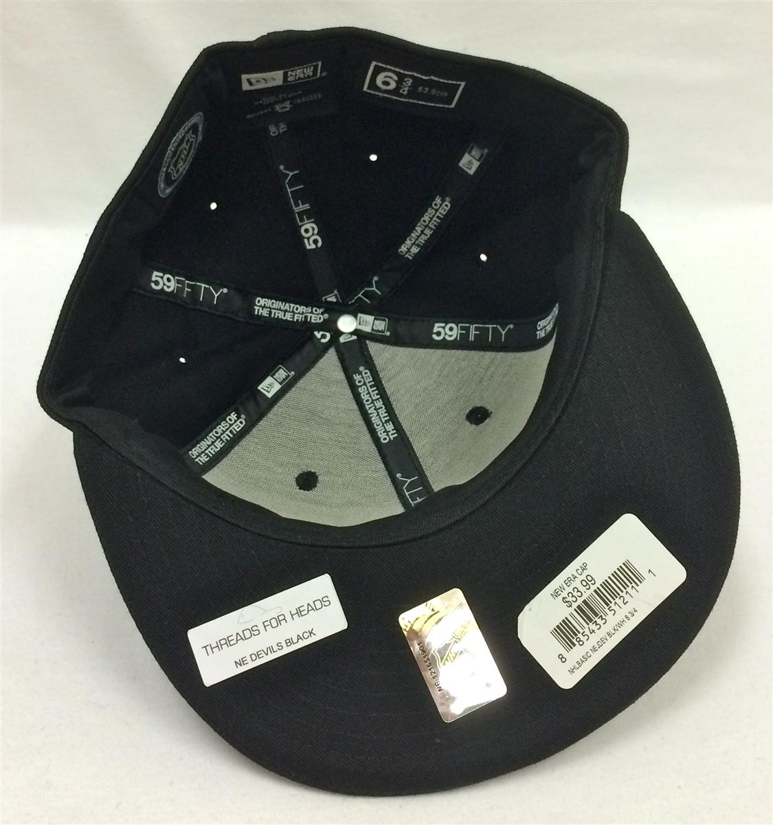 c2ff143e79e New Era 59Fifty NHL Basic New Jersey Devils Black Fitted Cap