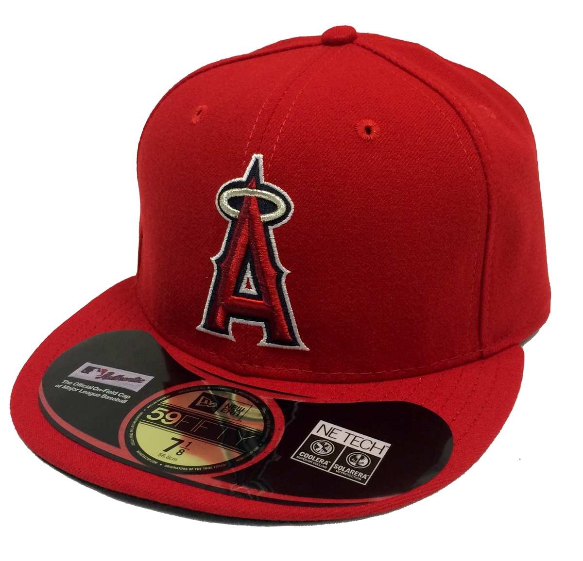 287218e0183128 New Era 59Fifty On-Field Los Angeles Angels of Anaheim Red Fitted ...