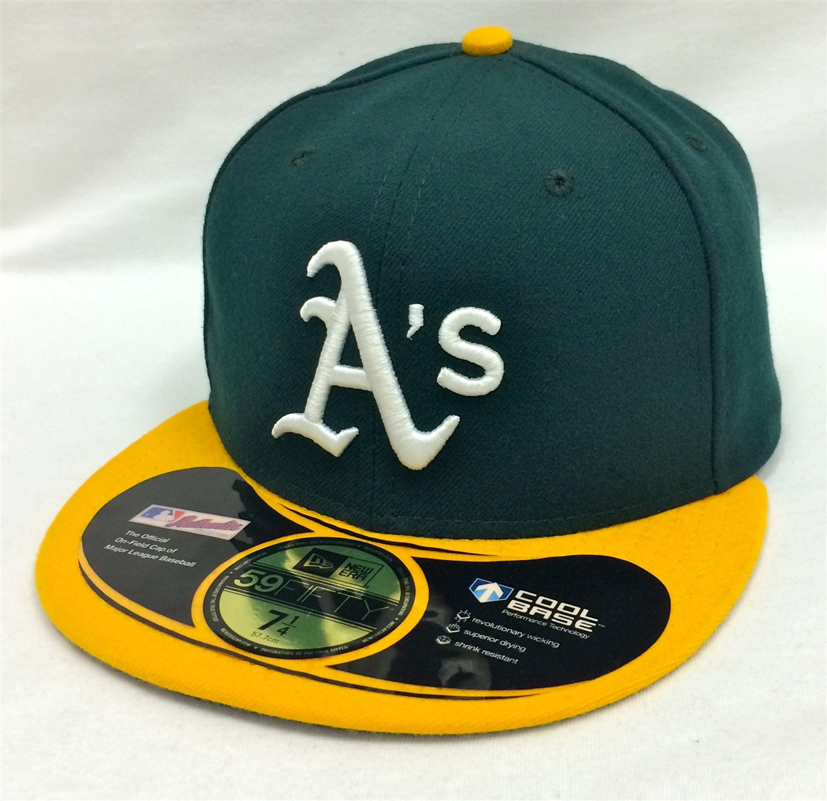 63a23ce0735 New Era 59Fifty On-Field Oakland Athletics Green   Yellow Fitted Cap