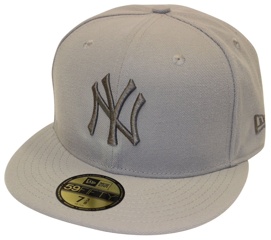 a87442564f2 New Era 59Fifty Tonal Pop Basic New York Yankees Gray Fitted Cap