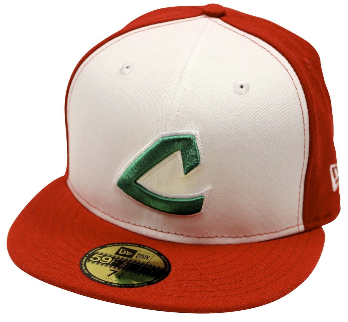 New Era 59Fifty Cleveland Indians White Red Fitted Cap T4H ... fab05e6c357