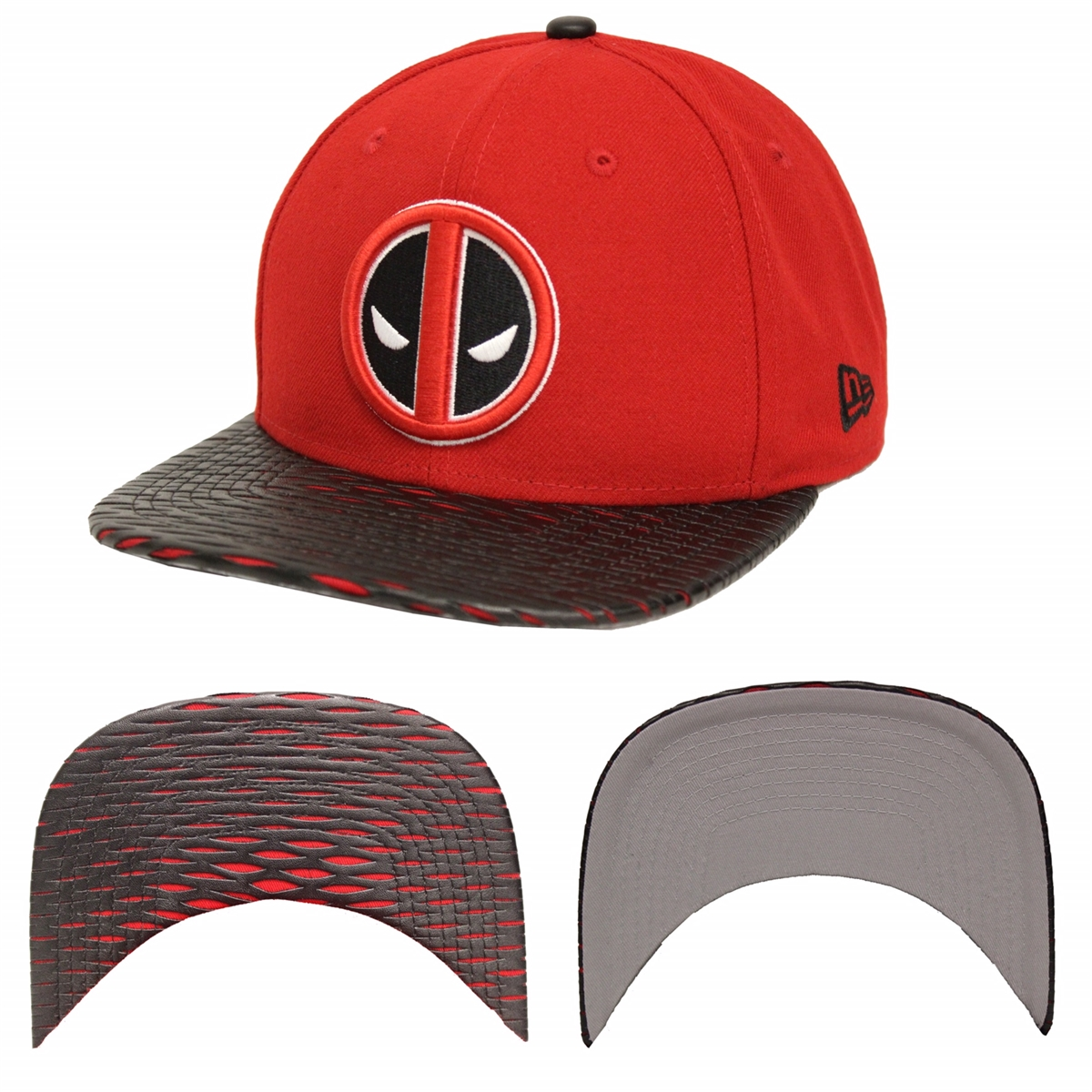 New Era 9Fifty Leather Rip Deadpool Red Black Snapback d41bbcc05e6