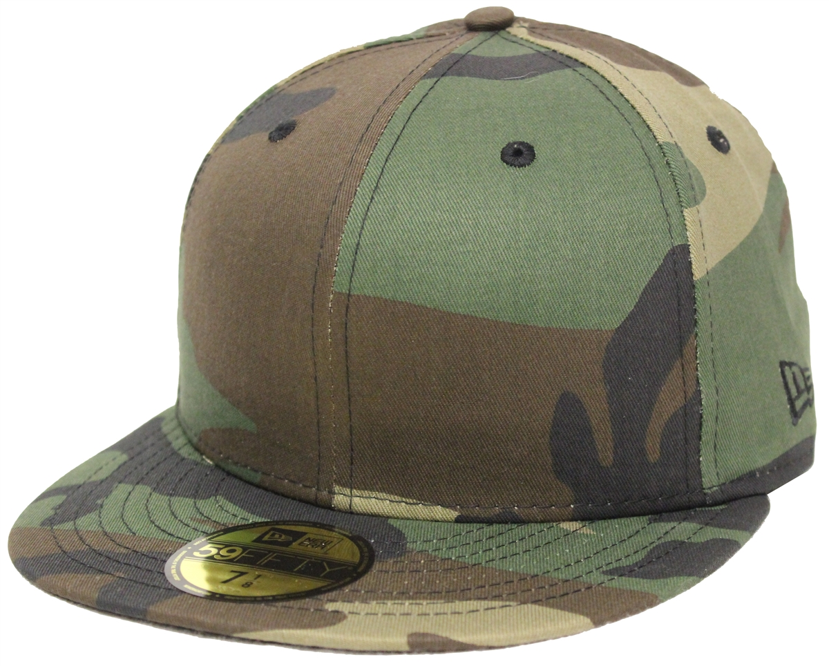 b0293a48 new era blank camo fitted hats black