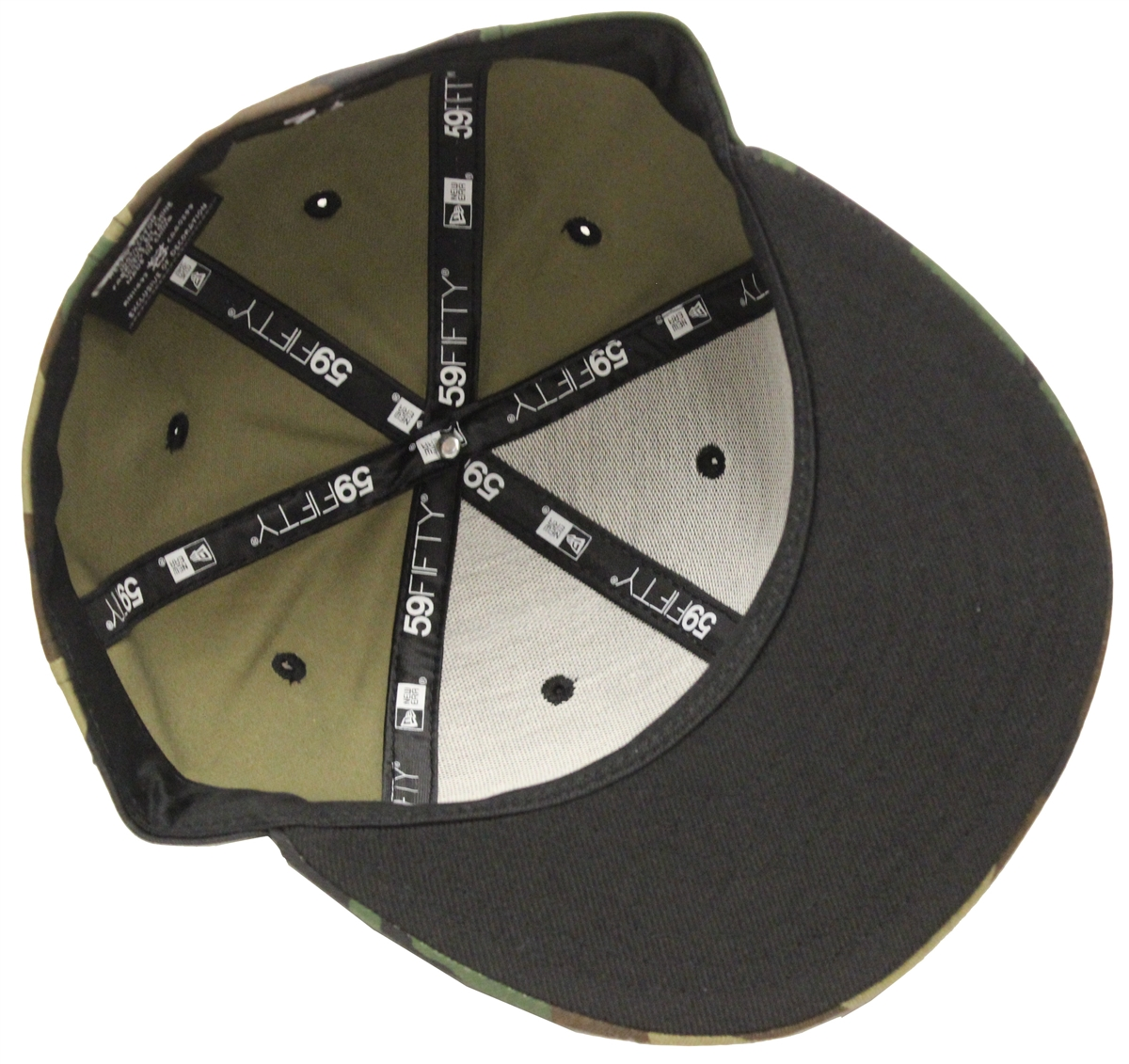 050f5fd1258a62 New Era 59Fifty Plain Camouflage Blank Fitted Cap Black Underbrim ...